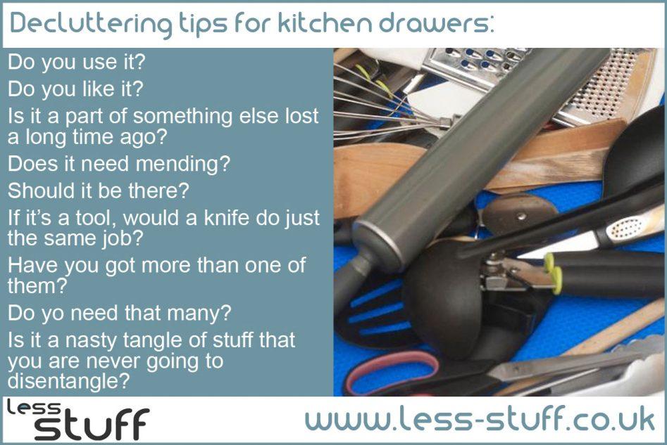 declutter kitchen drawers