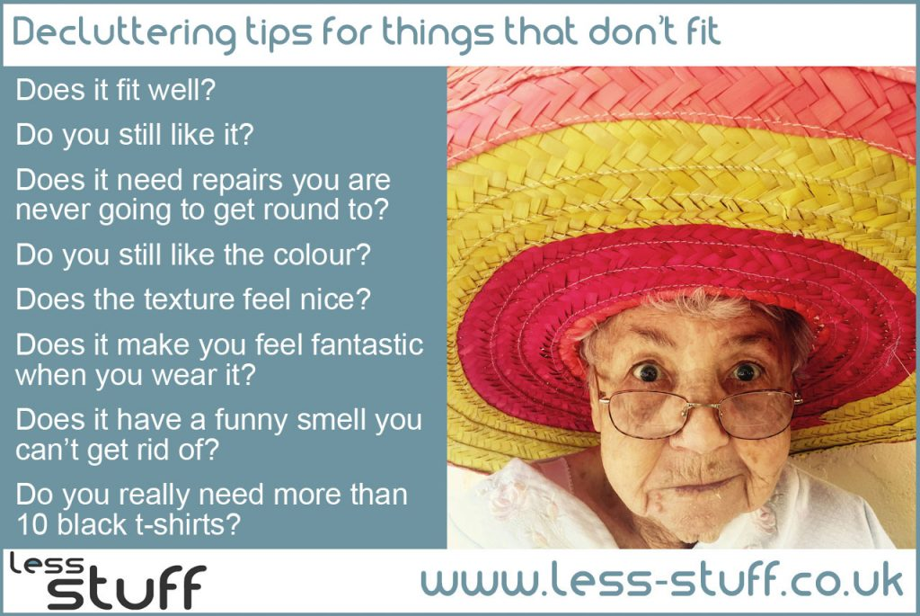 declutter things that don't fit