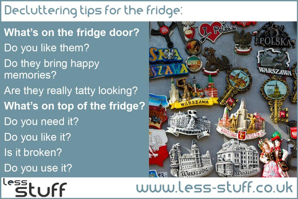 declutter the fridge