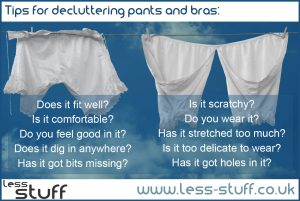 declutter pants and bras