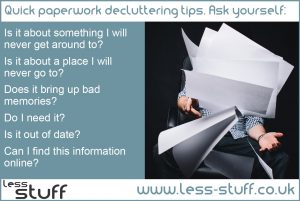 quick paperwork decluttering tips
