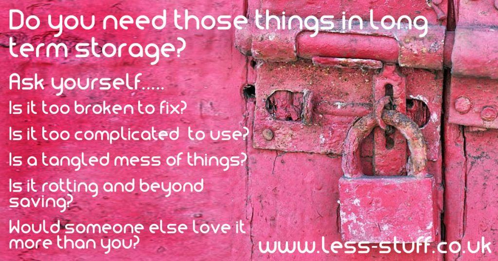 long term storage decluttering tips