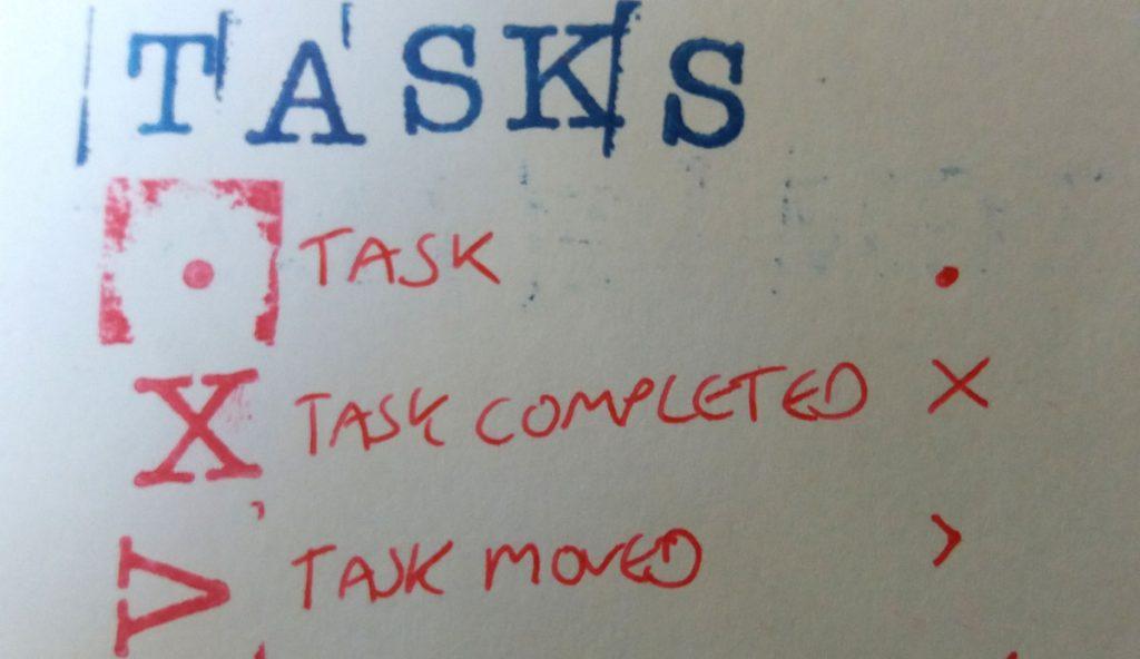 bullet journal tasks