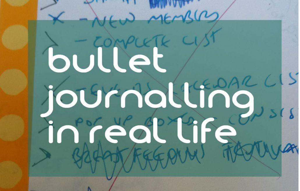bullet journalling in real life