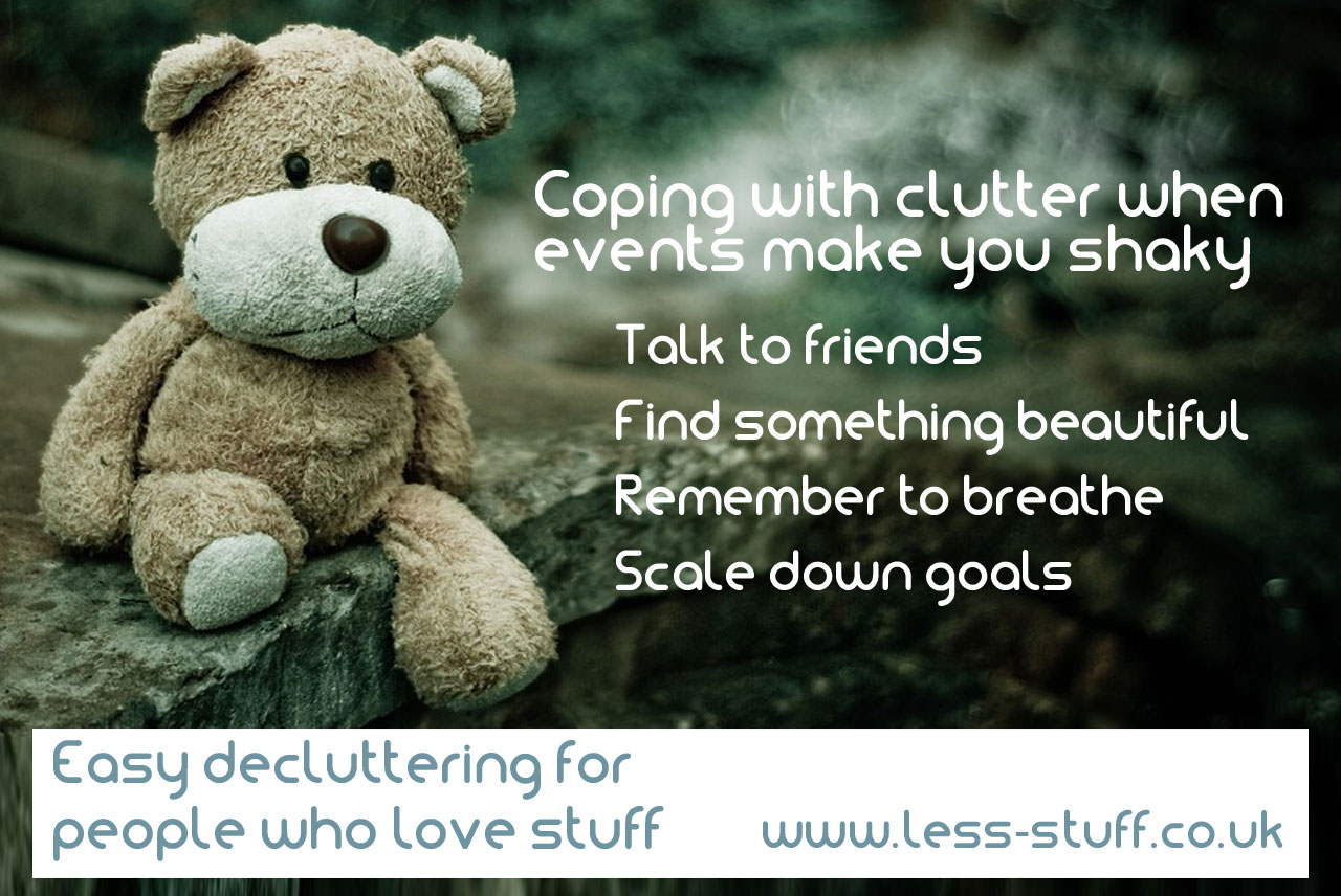 coping with clutter when you feel shaky