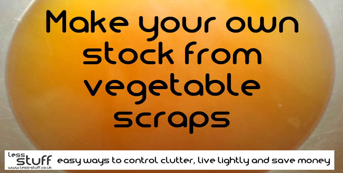 make veg stock from scraps