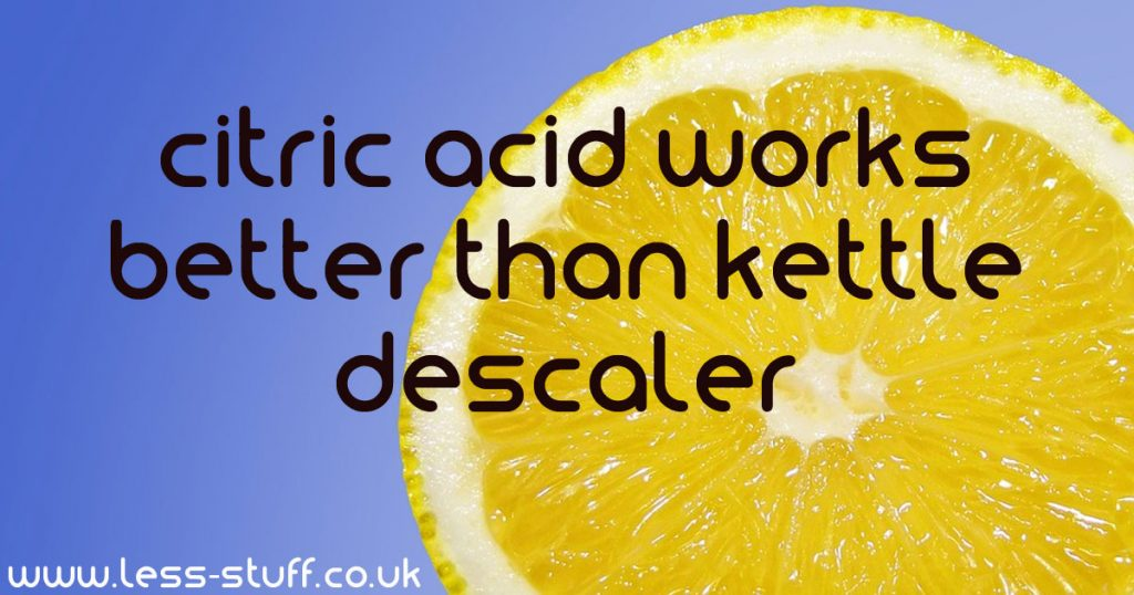 Citric acid from scale in the kettle: how to use this tool