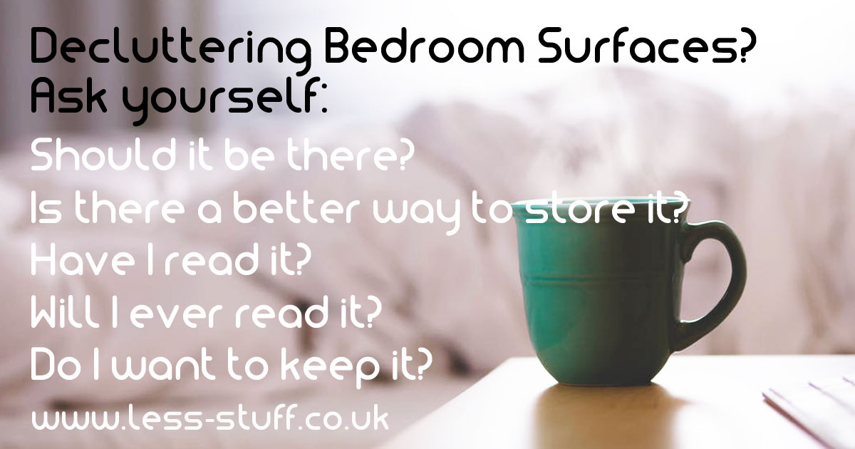 declutter bedroom surfaces