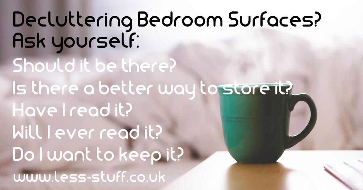 declutter bedroom surfaces