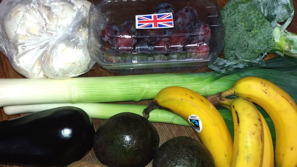 plastic free veg from the market
