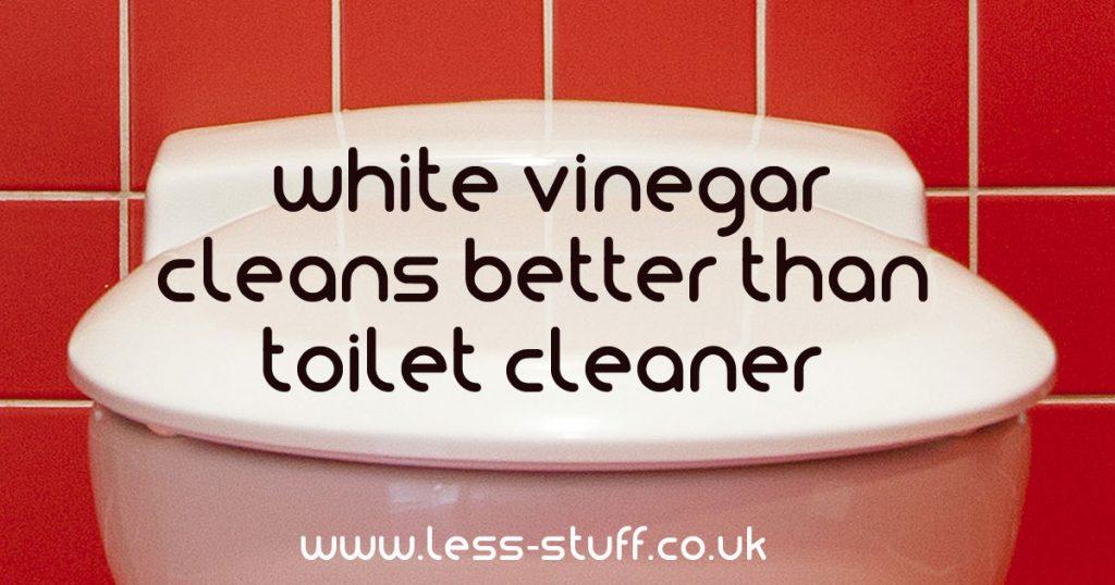 White vinegar better than cleaner