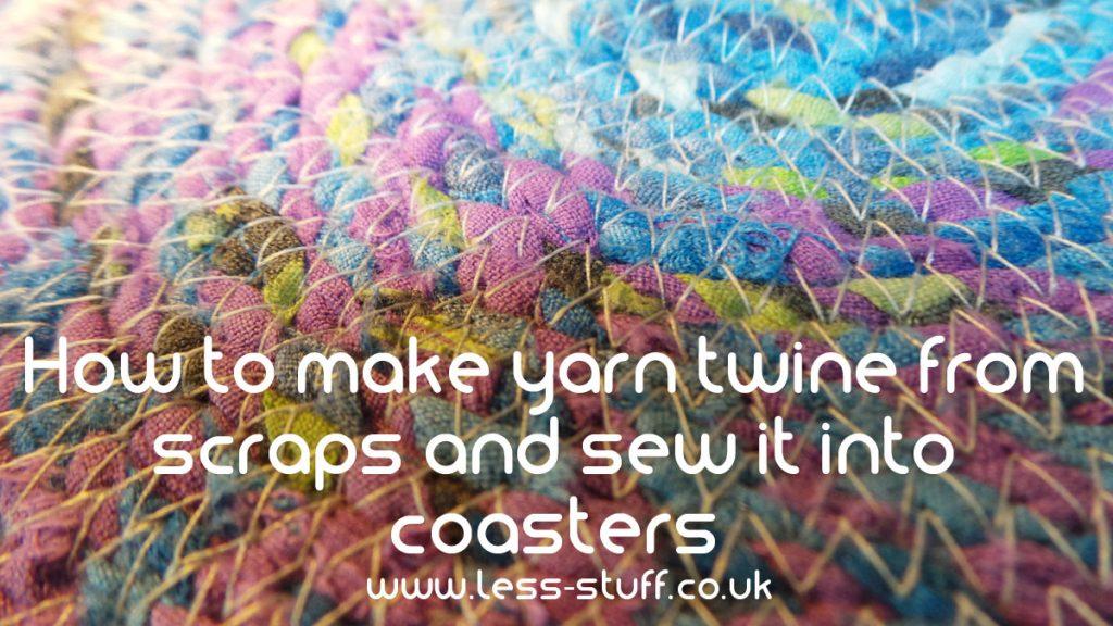 How to make and sew yarn twine