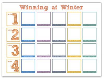 winning at winter calendar