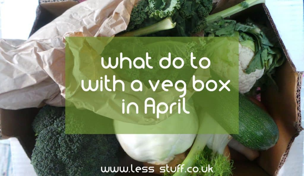 picture of an April veg box