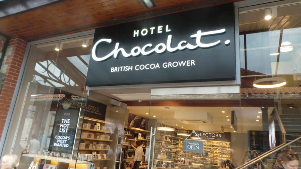 Hotel Chocolat shop front