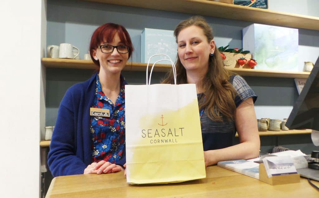 Friendly staff at Seasalt in Clarks Village