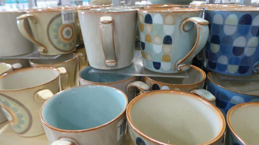 Denby cups at Clarks Village