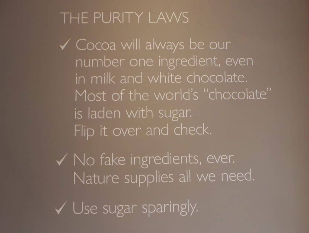 Hotel Chocolat have a purity law
